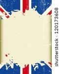 grunge british flag. a dirty... | Shutterstock .eps vector #120173608