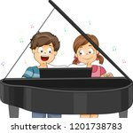 illustration of kids playing a... | Shutterstock .eps vector #1201738783