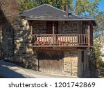 sunlit veranda of a traditional ...