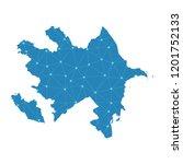azerbaijan map   blue pastel... | Shutterstock .eps vector #1201752133
