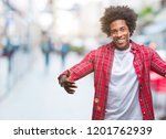 afro american man over isolated ... | Shutterstock . vector #1201762939