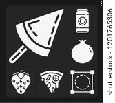 set of 6 fresh filled icons... | Shutterstock .eps vector #1201765306