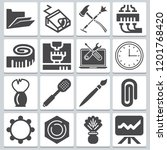set of 16 tool filled icons...   Shutterstock .eps vector #1201768420
