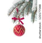 christmas balls on the fir | Shutterstock . vector #120177088