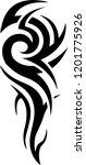 arm shoulder gangster tattoo...   Shutterstock .eps vector #1201775926
