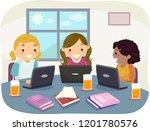 illustration of stickman kids... | Shutterstock .eps vector #1201780576