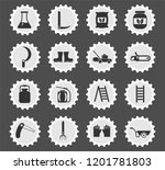 garden tools web icons stylized ... | Shutterstock .eps vector #1201781803