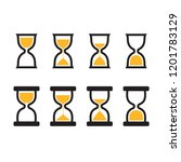 hourglass icon set in two...