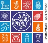 set of 13 food outline icons... | Shutterstock .eps vector #1201784920