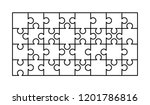 32 white puzzles pieces... | Shutterstock .eps vector #1201786816