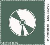 cd icon vector icon. simple... | Shutterstock .eps vector #1201786993