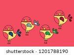 cute bird character with... | Shutterstock .eps vector #1201788190