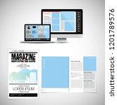 business magazine  brochure... | Shutterstock .eps vector #1201789576