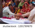 mathura  india   march 9 ... | Shutterstock . vector #1201789870