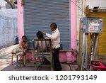 mathura  india   march 9 ... | Shutterstock . vector #1201793149