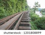 death railway of the bridge one ... | Shutterstock . vector #1201808899