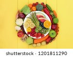 health food for vegans with... | Shutterstock . vector #1201811290