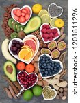 health food selection with... | Shutterstock . vector #1201811296