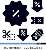 set of 6 discount filled icons... | Shutterstock .eps vector #1201813966