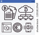 set of 5 coin outline icons... | Shutterstock .eps vector #1201813969
