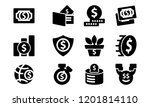 money template solid icon set | Shutterstock .eps vector #1201814110