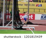 Small photo of TAMPERE, FINLAND, July 13: JAKE NORRIS (GBR), English track and field athlete win gold medal in hammer throw in the IAAF World U20 Championship Tampere, Finland 13 July, 2018.