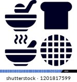 set of 4 food filled icons such ... | Shutterstock .eps vector #1201817599