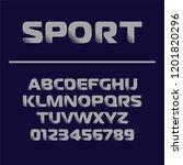 sport font design. futuristic... | Shutterstock .eps vector #1201820296