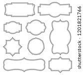 vintage frames set. border for... | Shutterstock .eps vector #1201821766