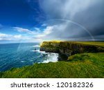 Rainbow Above Cliffs Of Moher....