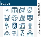 contains such icons as football ... | Shutterstock .eps vector #1201823800