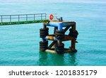deep sea ferry boat seaport... | Shutterstock . vector #1201835179