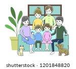 illustration of a family... | Shutterstock .eps vector #1201848820