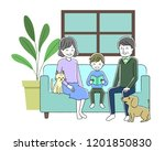 illustration of a family... | Shutterstock .eps vector #1201850830