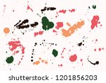 hand drawn set of colorful ink...   Shutterstock .eps vector #1201856203