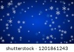 christmas snow background with... | Shutterstock .eps vector #1201861243