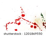 colorful drops on a white... | Shutterstock . vector #1201869550