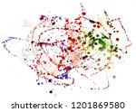 colorful drops on a white... | Shutterstock . vector #1201869580