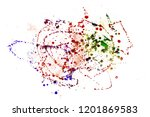 colorful drops on a white... | Shutterstock . vector #1201869583