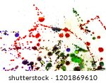 colorful drops on a white... | Shutterstock . vector #1201869610