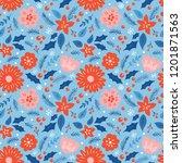 seamless pattern for christmas... | Shutterstock .eps vector #1201871563