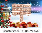 wooden board signboard christmas   Shutterstock .eps vector #1201899466