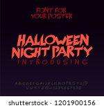 halloween font for poster.... | Shutterstock .eps vector #1201900156