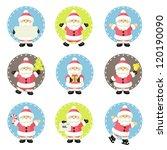 set of santa claus | Shutterstock .eps vector #120190090