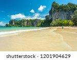 railay beach west. cliffs... | Shutterstock . vector #1201904629