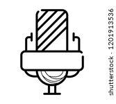 microphone icon vector | Shutterstock .eps vector #1201913536