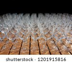 wine glasses on a wooden table... | Shutterstock . vector #1201915816