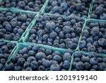 blueberries for sale farmer's... | Shutterstock . vector #1201919140