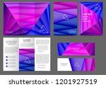 set of color abstract brochure... | Shutterstock .eps vector #1201927519
