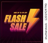 flash sale banner with thunder... | Shutterstock .eps vector #1201929790